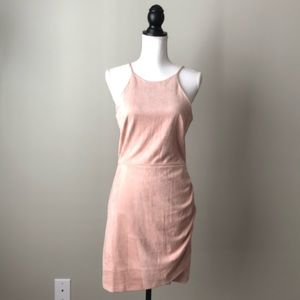 SOPRANO | Pink Faux Suede Dress